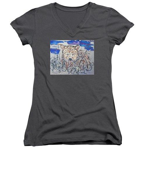 The Kodiak Women's V-Neck T-Shirt