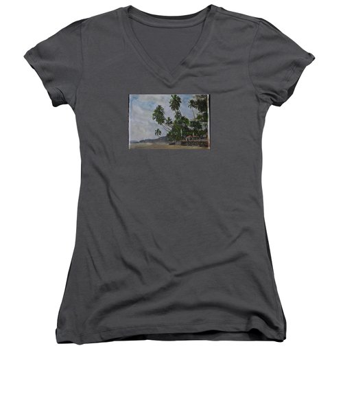 The Konkan Coastline Women's V-Neck (Athletic Fit)