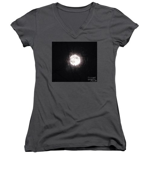 The Last Nights Moon Women's V-Neck (Athletic Fit)