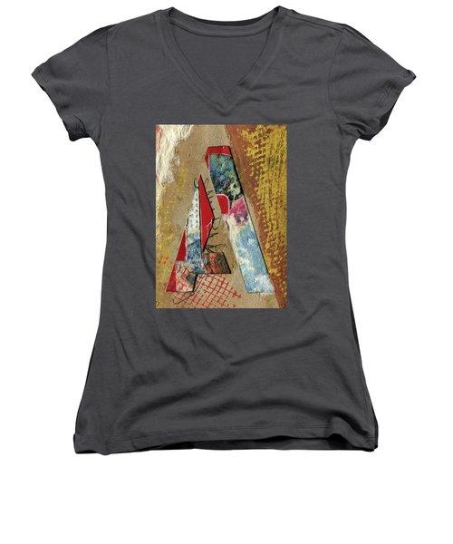 The Letter A Women's V-Neck T-Shirt