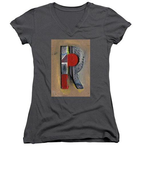 The Letter R Women's V-Neck T-Shirt