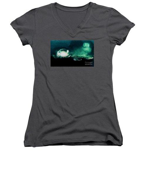 The Light Women's V-Neck T-Shirt (Junior Cut) by Annemeet Hasidi- van der Leij