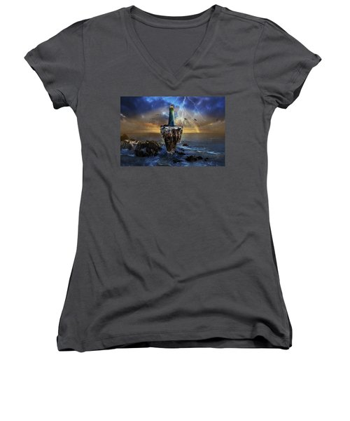 The Lighthouse Women's V-Neck (Athletic Fit)