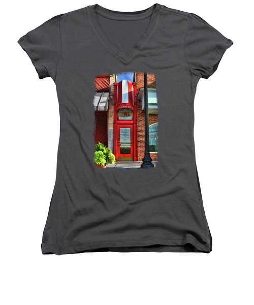 The Little Popcorn Shop In Wheaton Women's V-Neck (Athletic Fit)