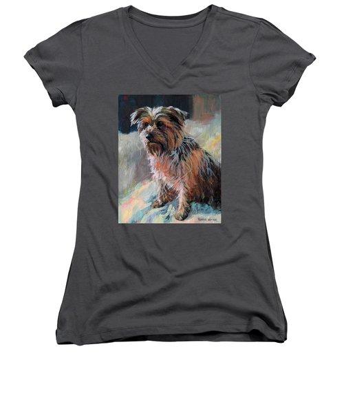 The Little Princess Women's V-Neck T-Shirt (Junior Cut) by Bonnie Mason