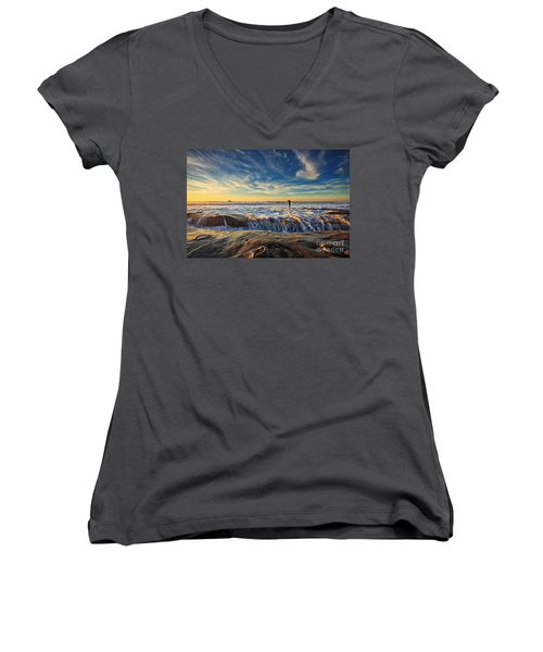 The Lone Surfer Women's V-Neck