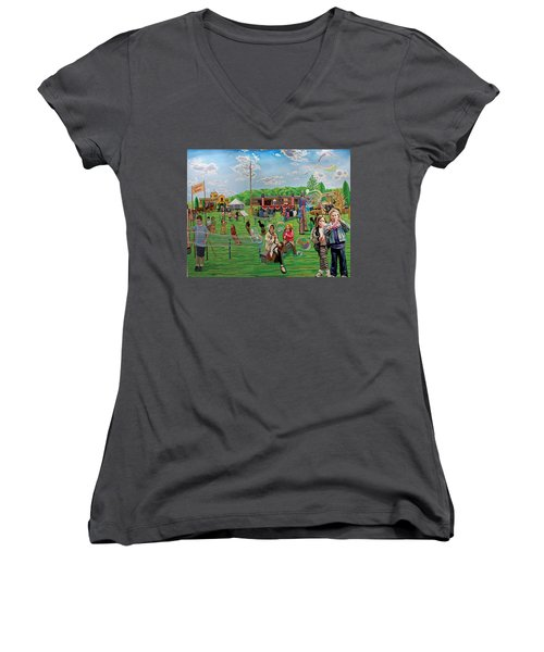 The Long Island Fair At Old Bethpage Restoration Women's V-Neck