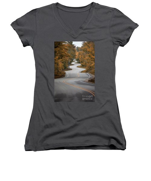 The Long Winding Road Women's V-Neck (Athletic Fit)