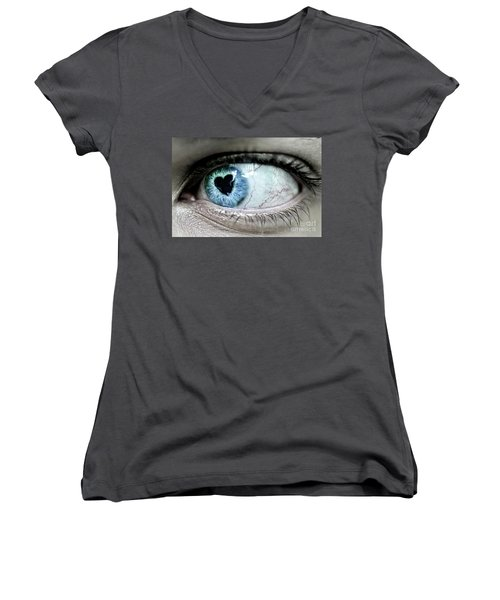 The Look Of Love Women's V-Neck (Athletic Fit)