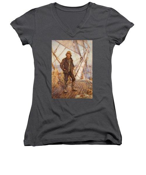 The Lookout Man  Women's V-Neck T-Shirt
