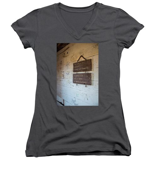 The Lord Is My Shepherd Women's V-Neck (Athletic Fit)