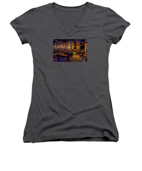 The Lounge Women's V-Neck T-Shirt (Junior Cut) by Lewis Mann