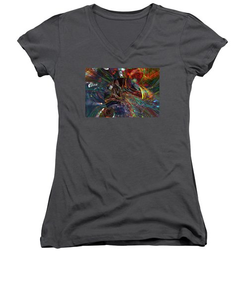 The Lucid Planet Women's V-Neck T-Shirt