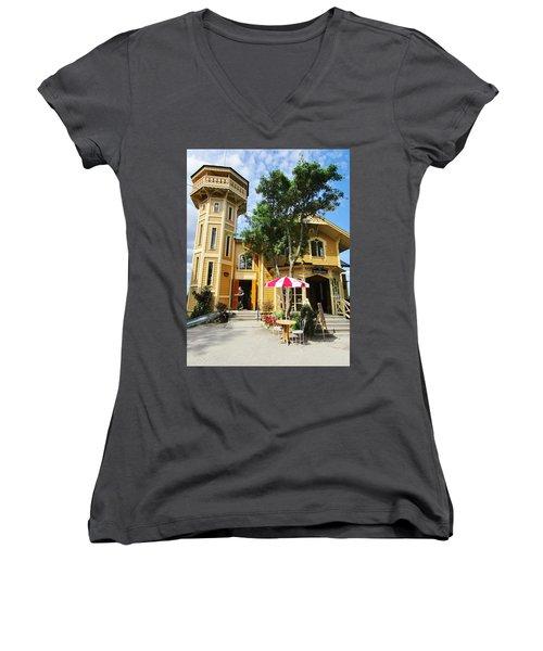 The Lyre  Women's V-Neck T-Shirt