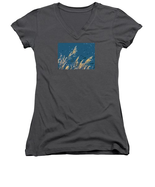 The Madison In Bear Trap Canyon Women's V-Neck T-Shirt