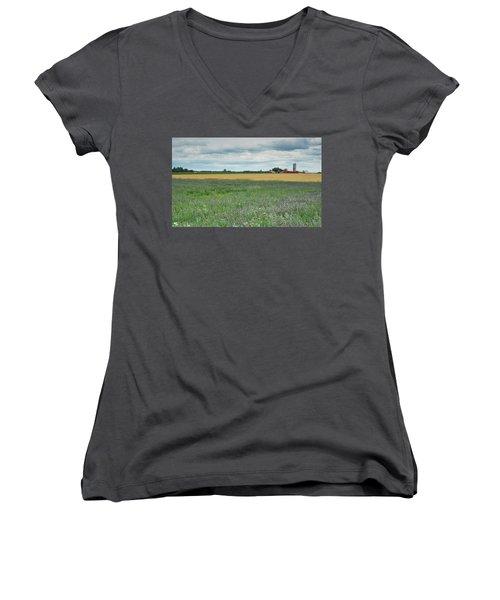 Farming Landscape Women's V-Neck