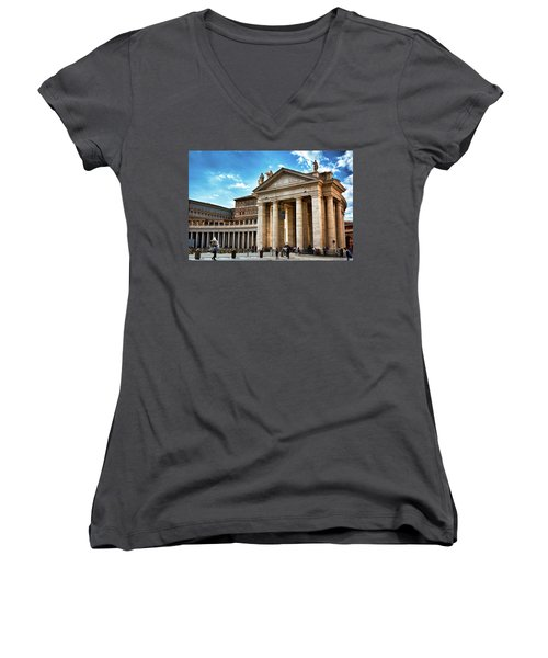 The Majesty Of The Tuscan Colonnades Women's V-Neck