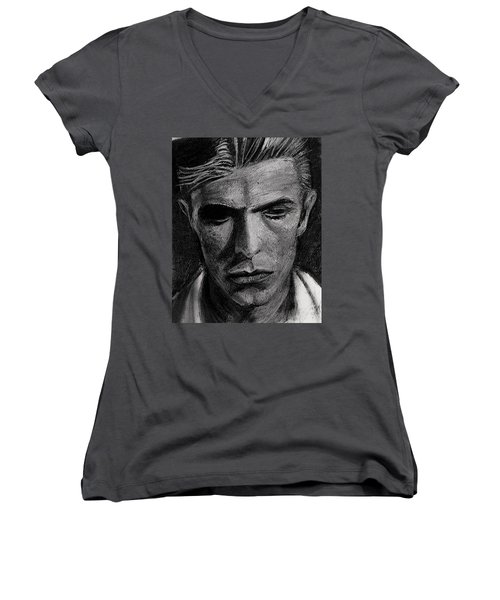 The Man Who Fell To Earth 1976 Women's V-Neck