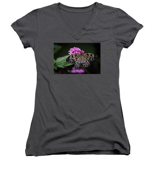 The Master Calls A Butterfly Women's V-Neck T-Shirt