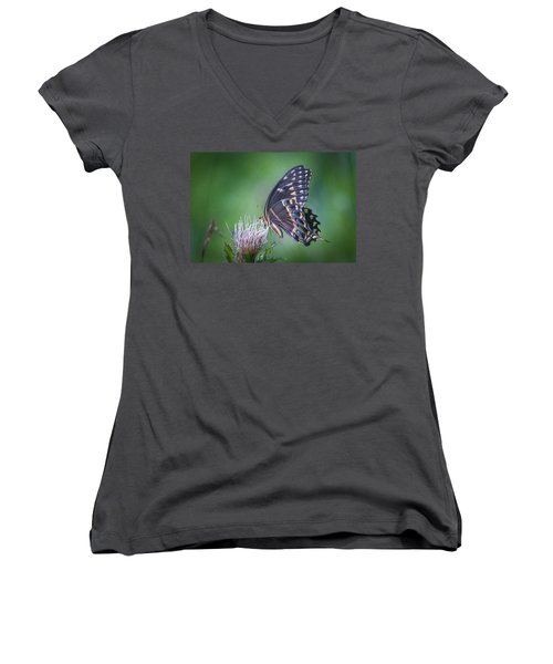 The Mattamuskeet Butterfly Women's V-Neck