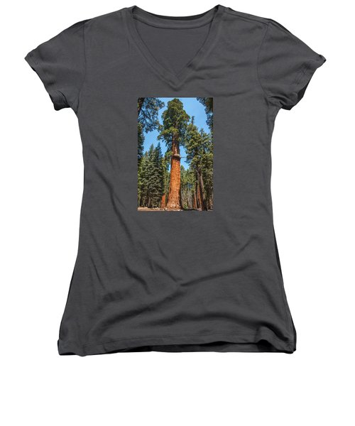 The Mckinley Giant Sequoia Tree Sequoia National Park Women's V-Neck (Athletic Fit)