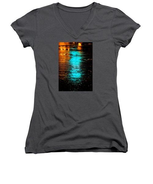 The Memory Lane II Women's V-Neck T-Shirt (Junior Cut) by Prakash Ghai
