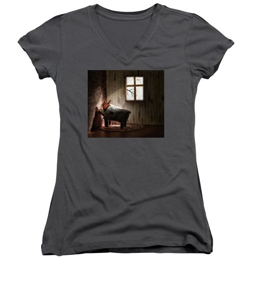 Women's V-Neck T-Shirt (Junior Cut) featuring the photograph The Metamorphosis Redux by Mark Fuller