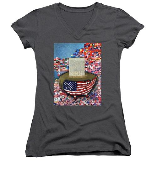 The Metling Pot Women's V-Neck T-Shirt