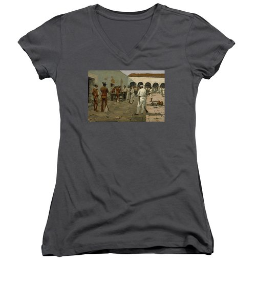The Mier Expedition The Drawing Of The Black Bean  Women's V-Neck