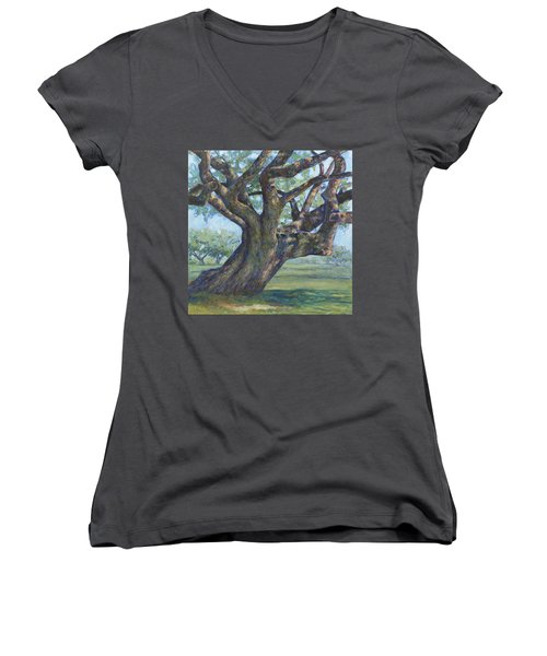 The Mighty Oak Women's V-Neck (Athletic Fit)