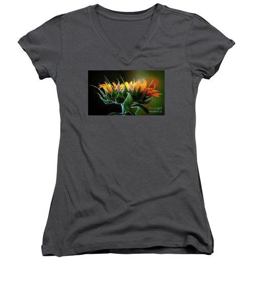 The Mighty Sunflower Women's V-Neck
