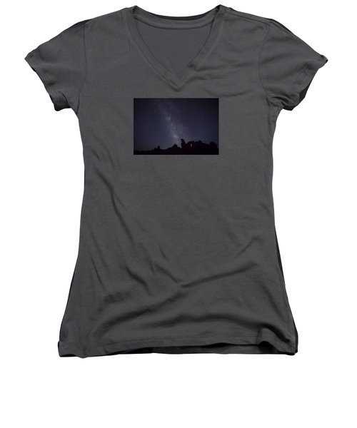 The Milky Way Over Turret Arch Women's V-Neck T-Shirt