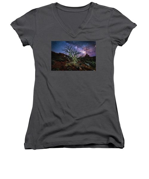 The Milky Way Tree Women's V-Neck