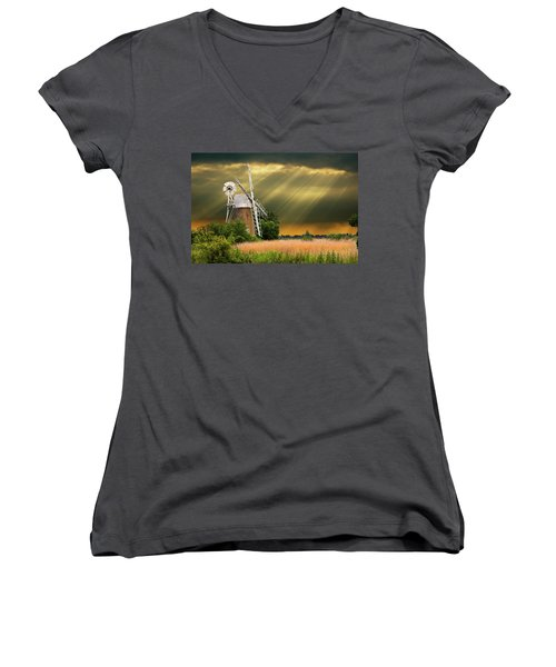 The Mill On The Marsh Women's V-Neck T-Shirt