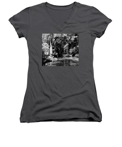 The Mill Wheel Women's V-Neck (Athletic Fit)