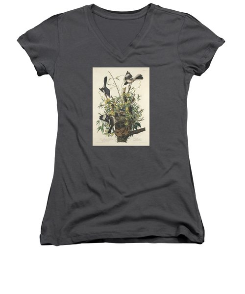 The Mockingbird Women's V-Neck T-Shirt (Junior Cut) by Anton Oreshkin