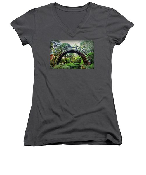 The Moon Bridge Women's V-Neck (Athletic Fit)