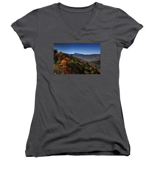 The Mountains Win Again Women's V-Neck