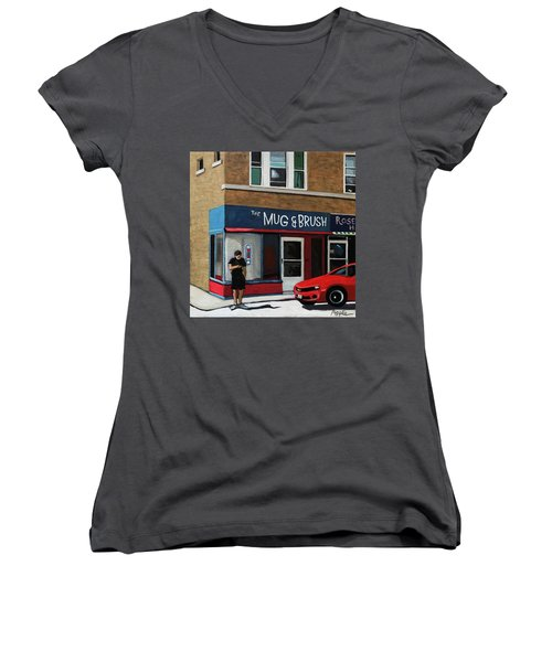 The Mug And Brush - Urban Painting Women's V-Neck