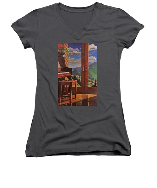 The Music Room Women's V-Neck T-Shirt