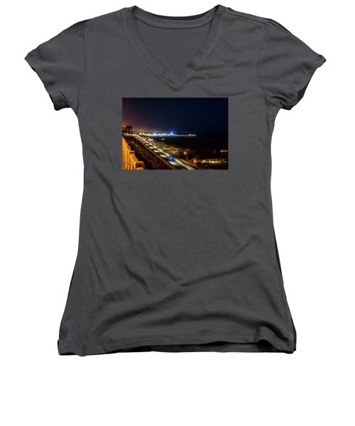 The New California Incline - Night Women's V-Neck (Athletic Fit)