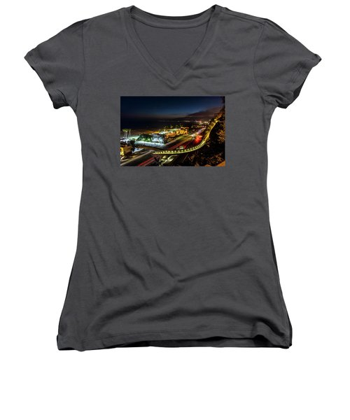 The New P C H Overpass - Night Women's V-Neck (Athletic Fit)