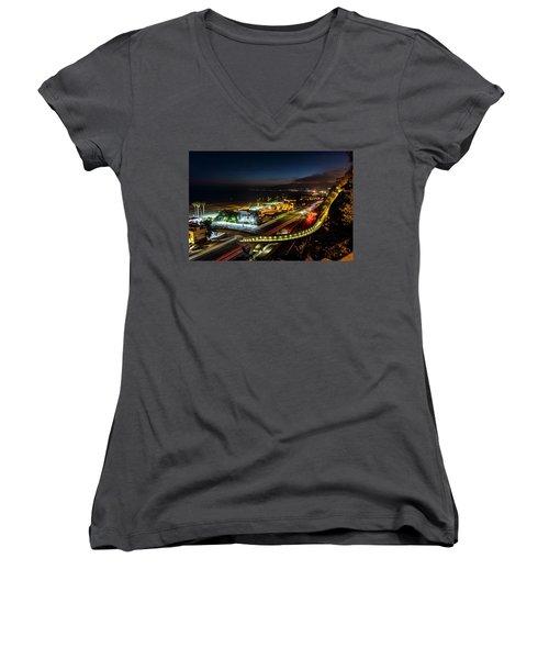 The New P C H Overpass - Night Women's V-Neck T-Shirt
