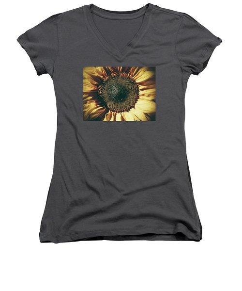 The Not So Sunny Sunflower Women's V-Neck T-Shirt