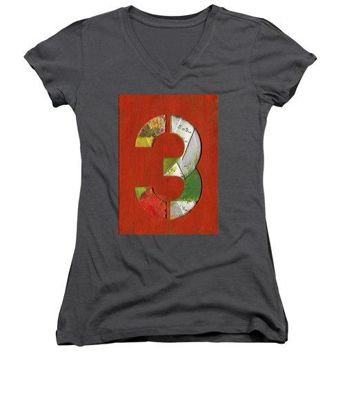 The Number 3 Women's V-Neck T-Shirt