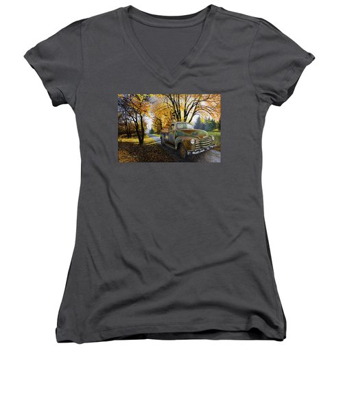 The Ol' Pumpkin Hauler Women's V-Neck