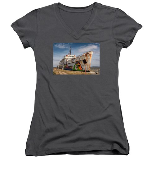 Women's V-Neck T-Shirt (Junior Cut) featuring the photograph The Old Duke by Adrian Evans