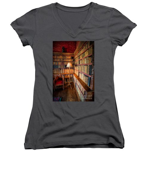 The Old Library Women's V-Neck