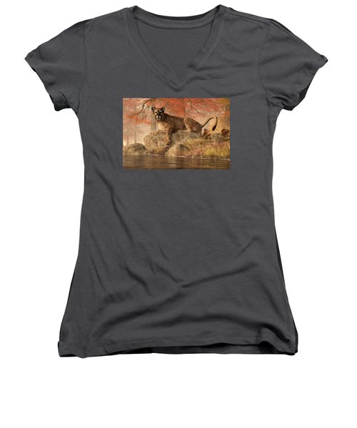 The Old Mountain Lion Women's V-Neck