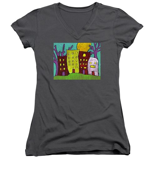 The Old Neighborhood Women's V-Neck (Athletic Fit)